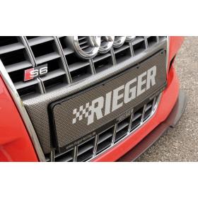 """Support de plaque d'immatriculation """"Carbon look"""" """"Rieger Tuning"""" pour AUDI A3 (8L)"""